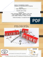 Filosofía Just in Time