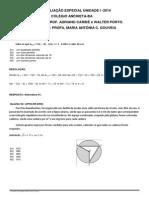 RESOLUÇÃO 2ªAvaliação Matemática 3ªEM U 1 2014
