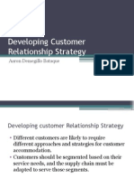 Developing Customer Relationship Strategy