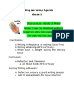 writing workshop agenda 2