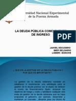 Clasificacion de La Deuda Publica