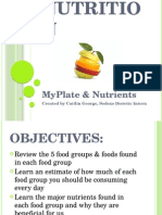 8th grade nutrition myplate and nutrients