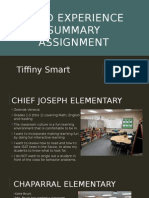 202 field experience summary assignment
