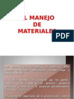 1) Manejo de Materiales