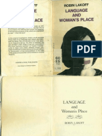 Lakoff, Robin Language and Womans Place
