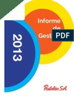 Informe de Gestion de Postobon 2013
