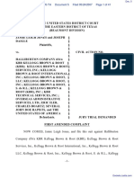 Jones, Et Al v. Halliburton Company et al - Document No. 5