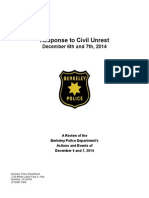 Berkeley PD Response to Civil Unrest