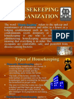 Housekeeping Organization lecture note