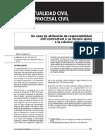 Responsabilidad Civil de Tercero en el caso de establecimientos de salud