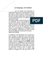 Spoken Language, Oral Culture
