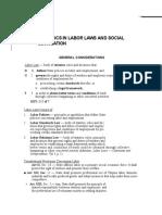 Mnemonics in Labor Laws and Social Legislation