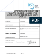 PRASA Rail Booysens Crown Stations Rear End Collision Preliminary Report v4