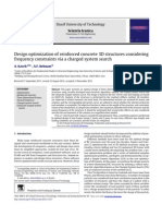 Design Optimization of Reinforced Concrete 3D Structures