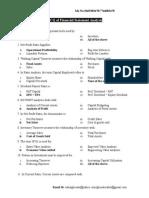 MCQ of Financial Statement Analysis
