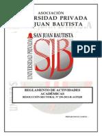 Reglamento de Actividades Académicas v 4.0 RR 158-2013