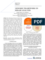 Typical Genomic Framework on Disease Analysis