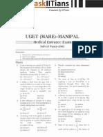 manipal paper 2012