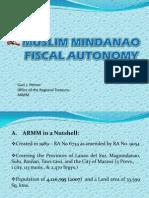 ARMM Fiscal Autonomy
