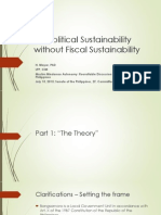 No Political Sustainability Without Fiscal Sustainability