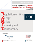 European Regulations – REMIT Reporting Services and Solutions