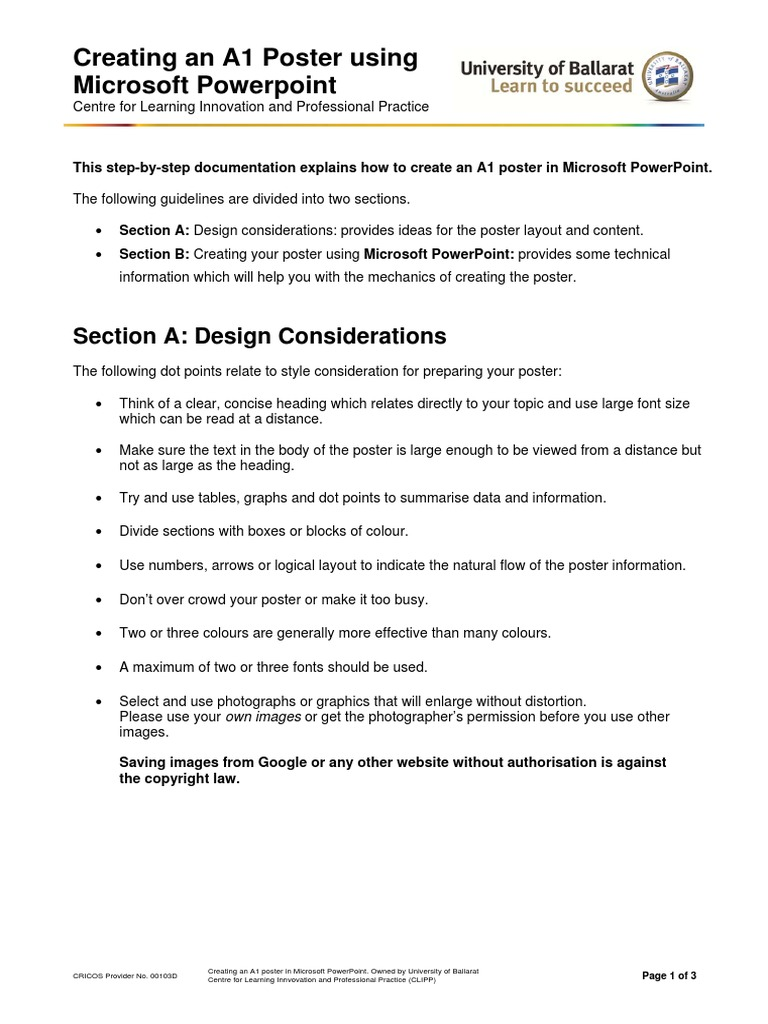 UB CLIPP PosterGuidelines Microsoft PowerPoint   Page Layout