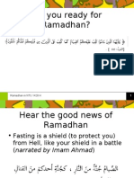 Are You Ready for Ramadhan