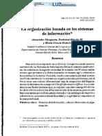 la oorganizacion basada en los sistemas de informacion