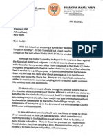Subramanian Swamy's Letter to Amit Shah Dtd July 20, 2015