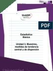 U3. Muestreo, Medidas de Tendencia Central y de Dispersion