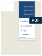 Fundamentals of Concrete Design