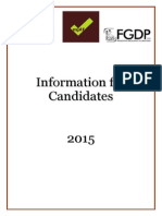 Information for Candidates June 2015