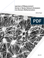 A Comparison of Measurement Uncertainty in Vector Network Analyzers and Time Domain Reflectometers