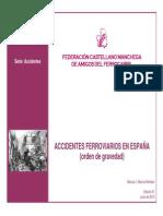 Accidentes Ferroviarios en España (Gravedad)