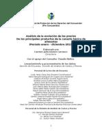 Canasta Básica Evolución Precios 2011-2012