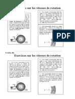 Exercices-sur Les Vitesses de Rotation
