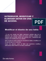 Introducir, Modificar y Eliminar Datos en Una