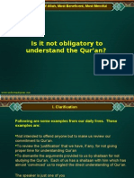 Why to Understand Qur'an - English