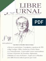 Libre Journal de la France Courtoise N°098