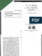 Barnes - Kuhn y Las Ciencias Sociales