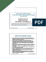 Gan Power Amplifier Design