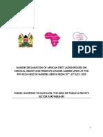 9th SCCA Nairobi Declaration