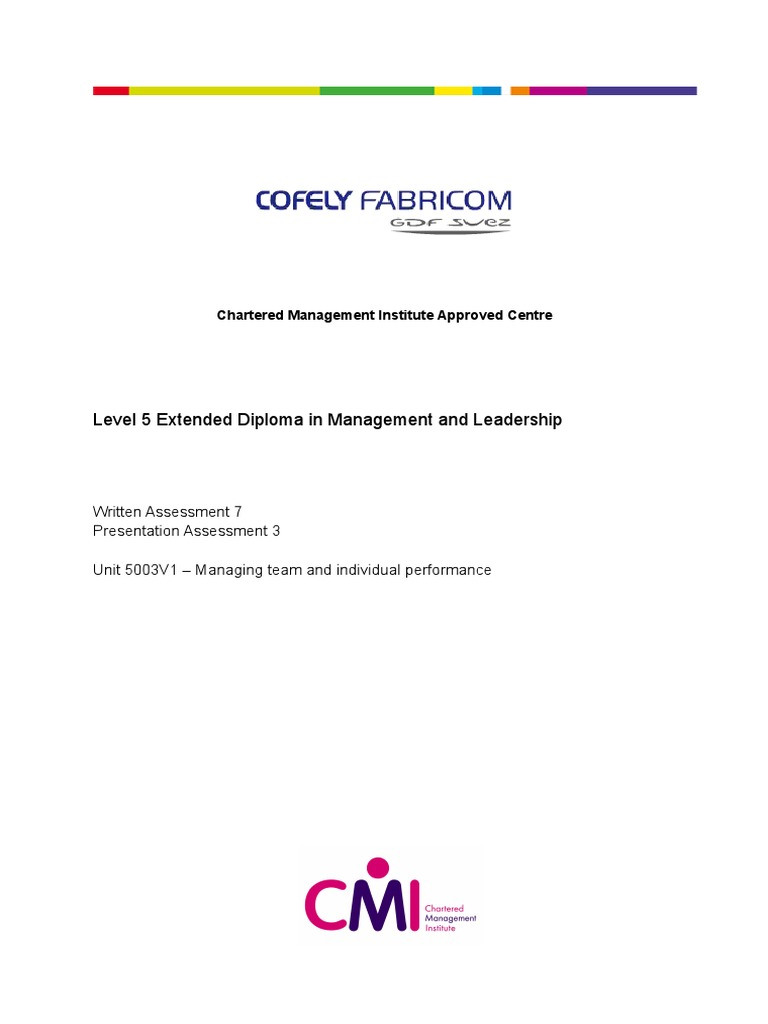 explain the links between individual team and organisational objectives