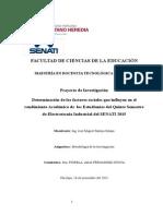 Determinación de Los Factores Sociales Que Influyen en El Rendimiento Académico de Los Estudiantes Del Qu