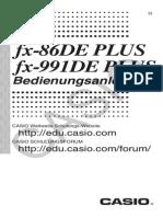 Fx-86de Plus Fx-991de Plus De