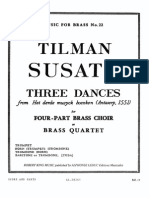 SUSATO. Three Dances for Brass Quartet or Quintet