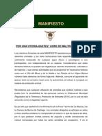 Manifiesto_Por Una Ciudad Libre de Maltrato Animal