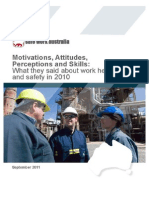 Motivations Attitudes Perceptions Skills What They Said