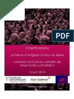 Compte-rendu des sessions du Forum d'Avignon à Futur en Seine