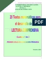 Textos Matematicos - Lectura Comprensiva - e. Primaria Ciclo 1